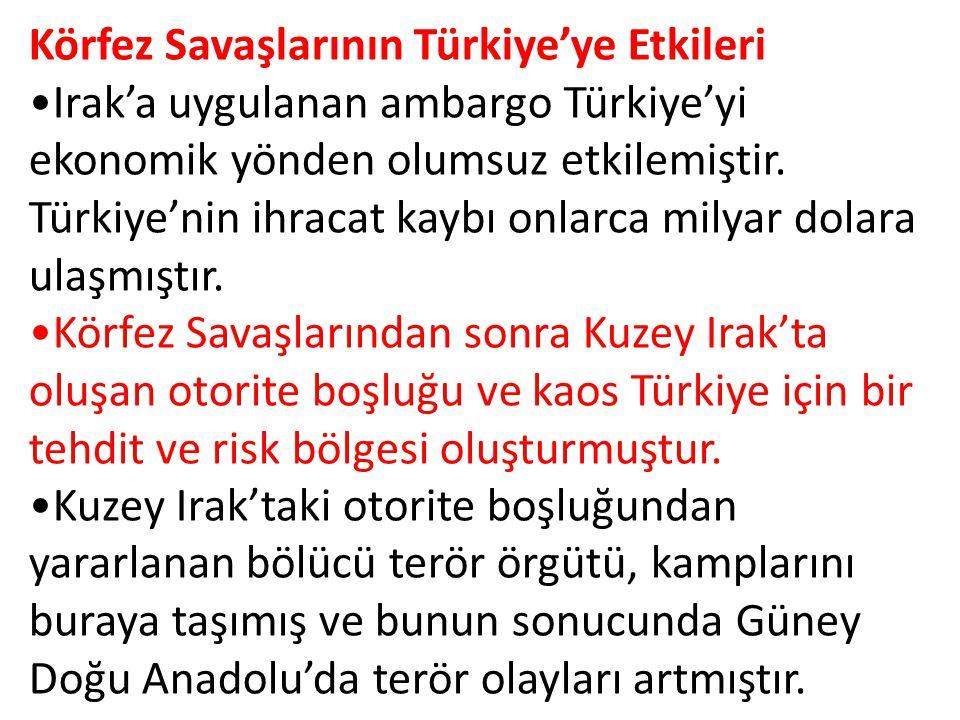 Körfez Savaşlarının Türkiye'ye Etkileri