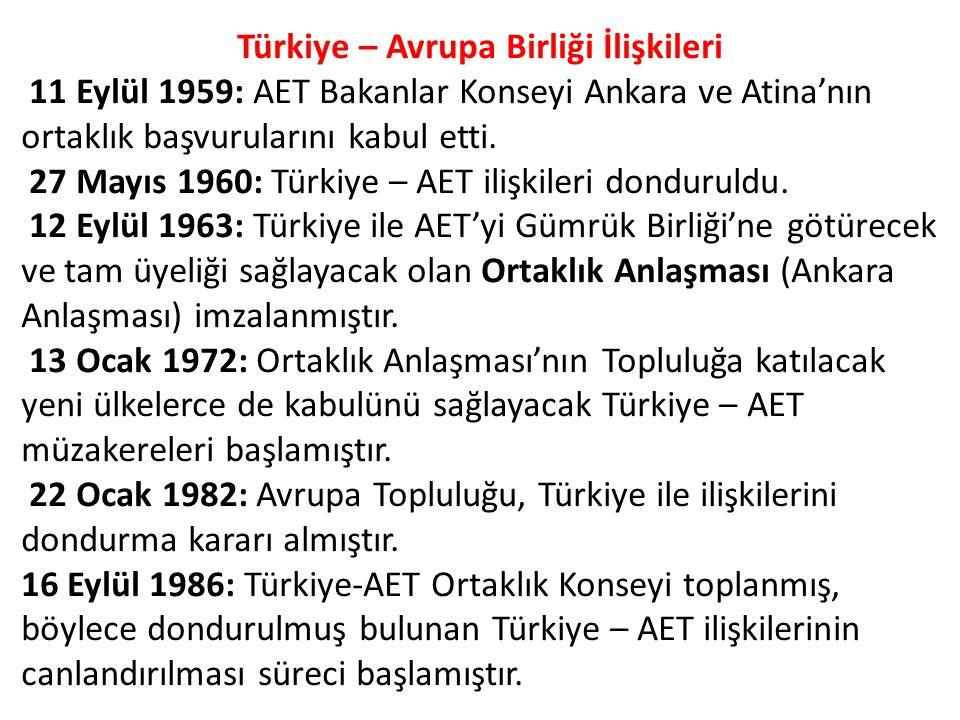 Türkiye – Avrupa Birliği İlişkileri