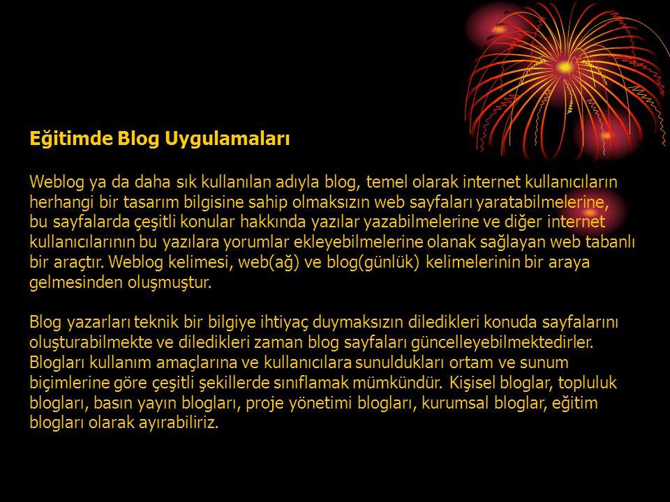 Eğitimde Blog Uygulamaları