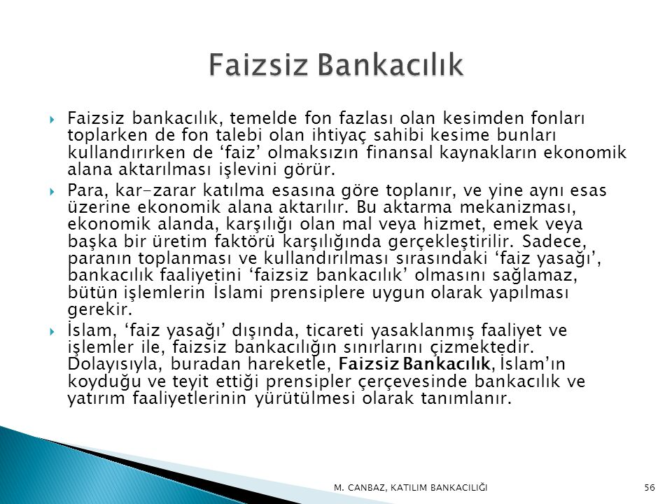 Faizsiz Bankacılık