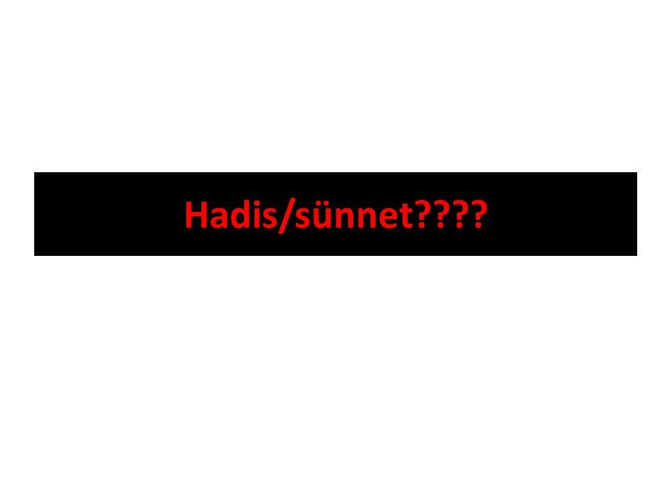 Hadis/sünnet