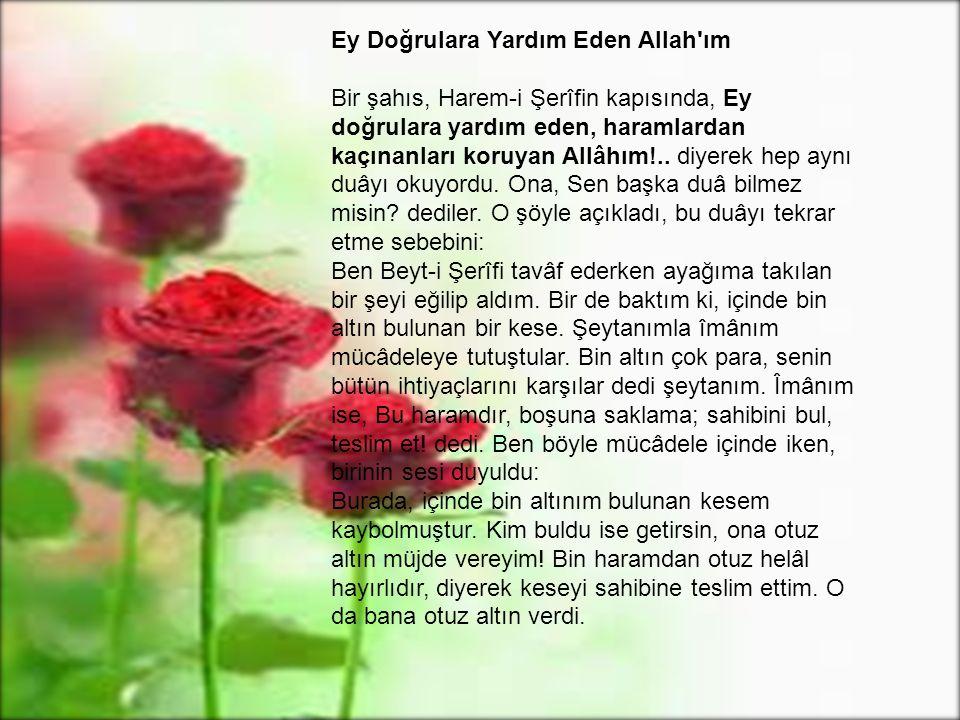 Ey Doğrulara Yardım Eden Allah ım