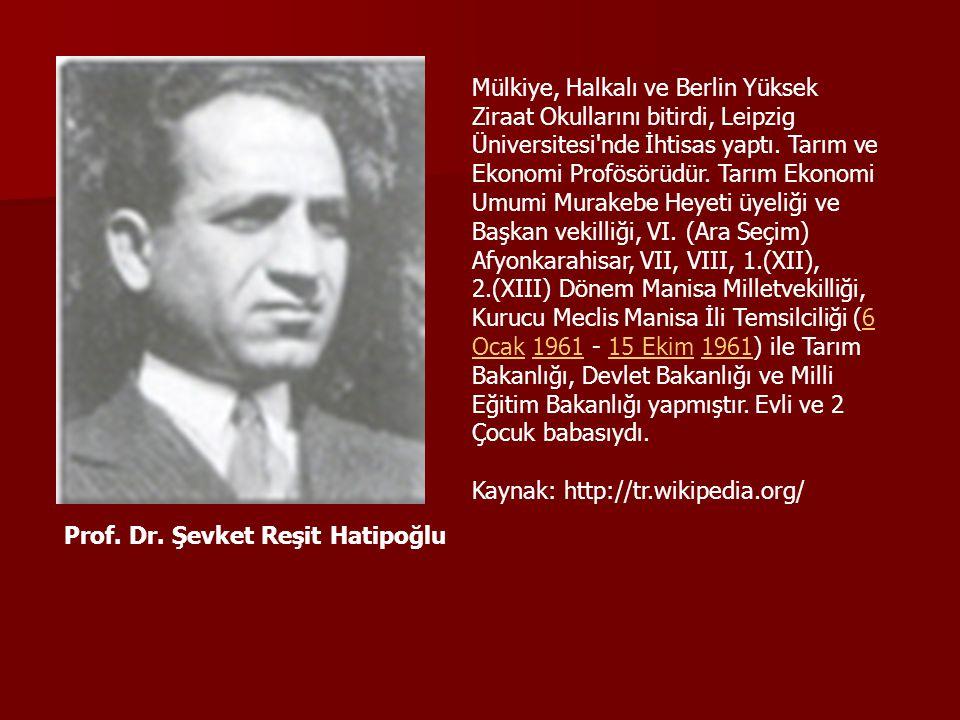 Mülkiye, Halkalı ve Berlin Yüksek Ziraat Okullarını bitirdi, Leipzig Üniversitesi nde İhtisas yaptı. Tarım ve Ekonomi Profösörüdür. Tarım Ekonomi Umumi Murakebe Heyeti üyeliği ve Başkan vekilliği, VI. (Ara Seçim) Afyonkarahisar, VII, VIII, 1.(XII), 2.(XIII) Dönem Manisa Milletvekilliği, Kurucu Meclis Manisa İli Temsilciliği (6 Ocak 1961 - 15 Ekim 1961) ile Tarım Bakanlığı, Devlet Bakanlığı ve Milli Eğitim Bakanlığı yapmıştır. Evli ve 2 Çocuk babasıydı.