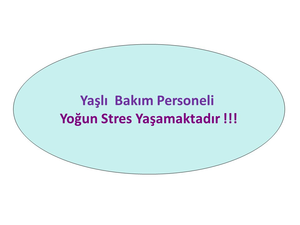 Yoğun Stres Yaşamaktadır !!!