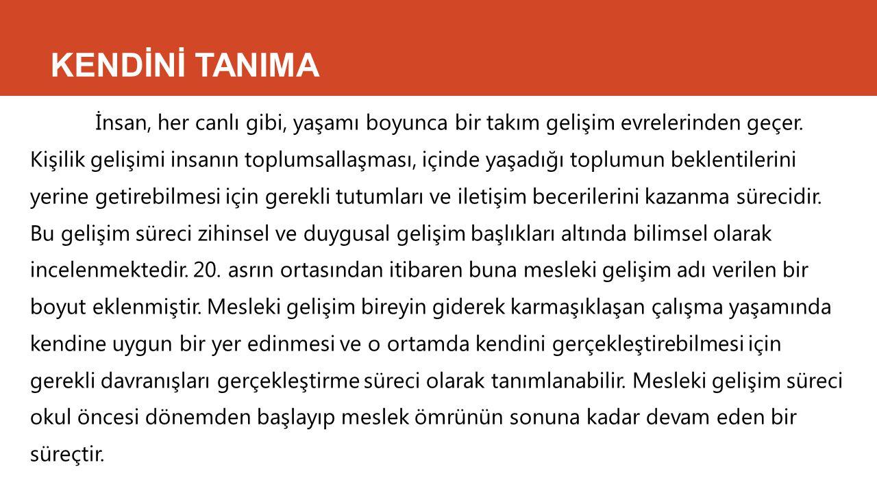 KENDİNİ TANIMA