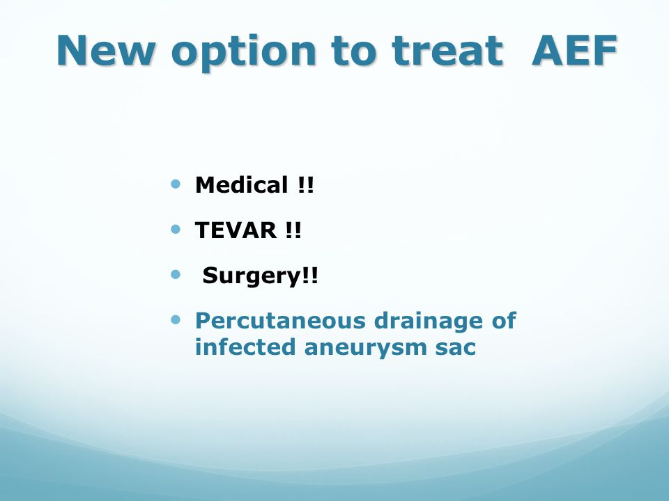 New option to treat AEF Medical !! TEVAR !! Surgery!!