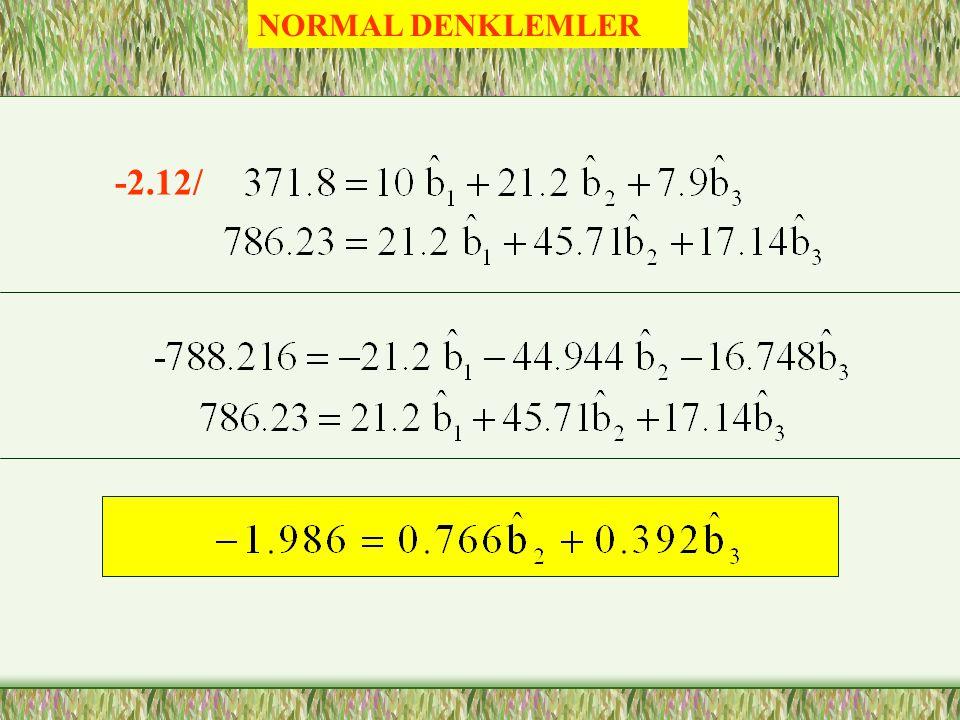NORMAL DENKLEMLER -2.12/