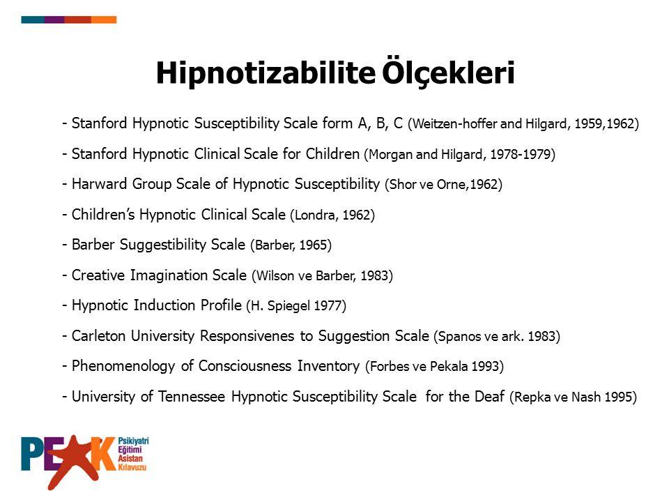 Hipnotizabilite Ölçekleri