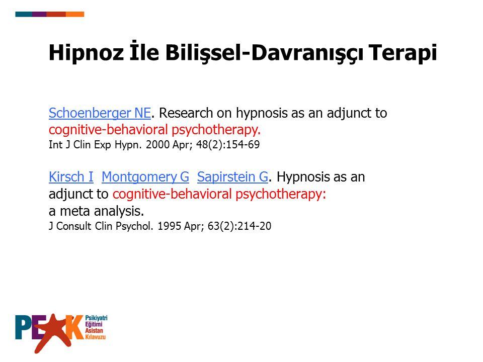 Hipnoz İle Bilişsel-Davranışçı Terapi