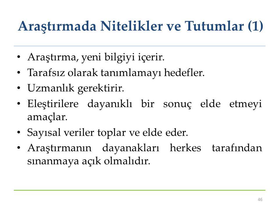 Araştırmada Nitelikler ve Tutumlar (1)