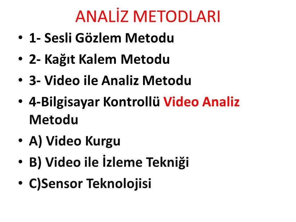ANALİZ METODLARI 1- Sesli Gözlem Metodu 2- Kağıt Kalem Metodu