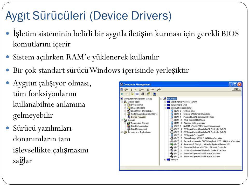 Aygıt Sürücüleri (Device Drivers)