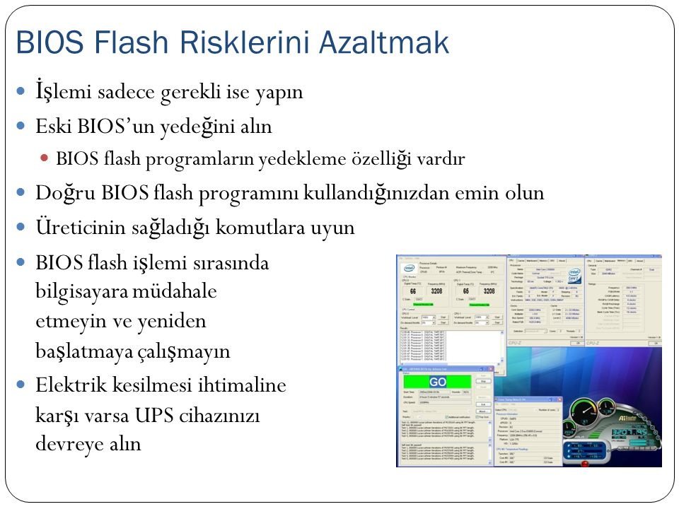 BIOS Flash Risklerini Azaltmak