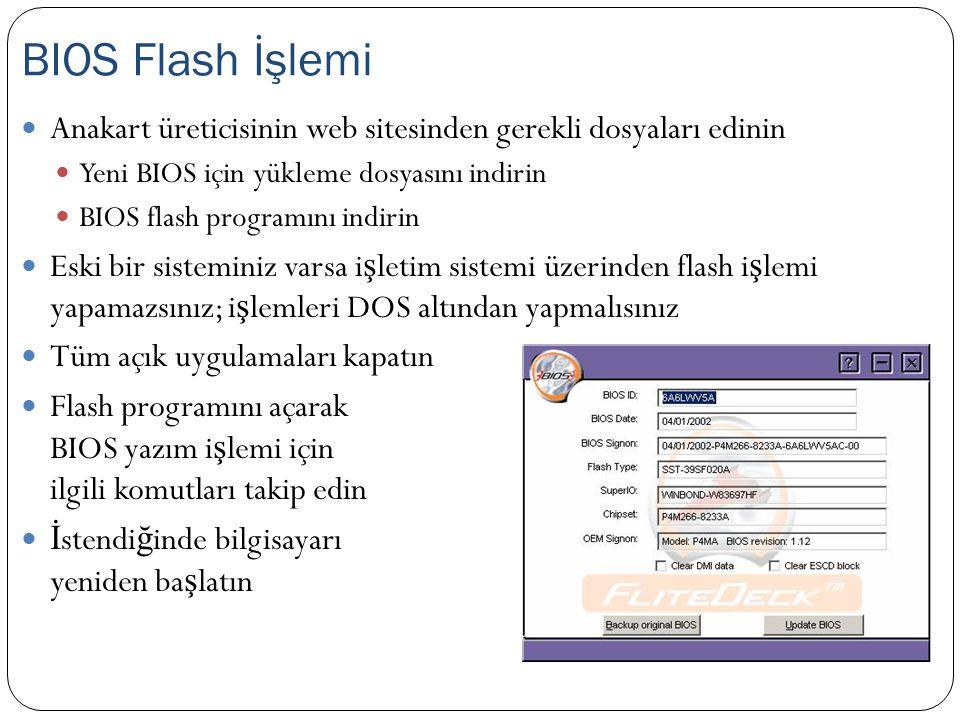 BIOS Flash İşlemi Anakart üreticisinin web sitesinden gerekli dosyaları edinin. Yeni BIOS için yükleme dosyasını indirin.