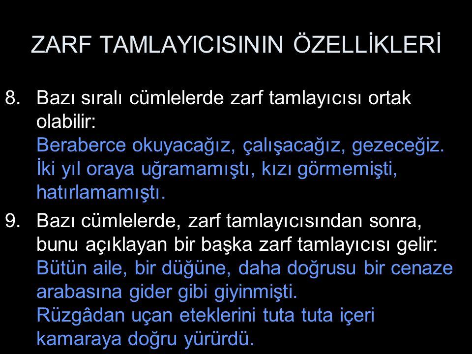 ZARF TAMLAYICISININ ÖZELLİKLERİ