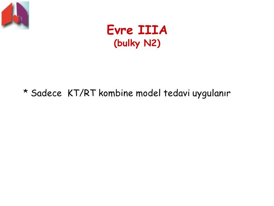 Evre IIIA (bulky N2) * Sadece KT/RT kombine model tedavi uygulanır