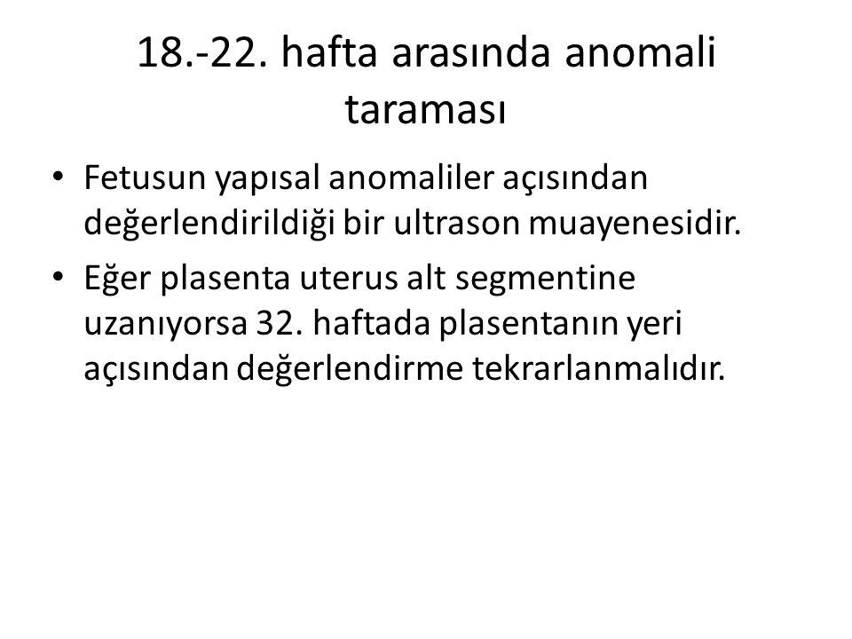 18.-22. hafta arasında anomali taraması