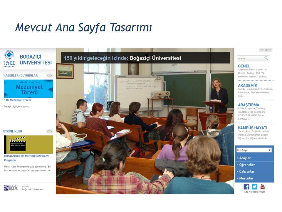 Mevcut Ana Sayfa Tasarımı