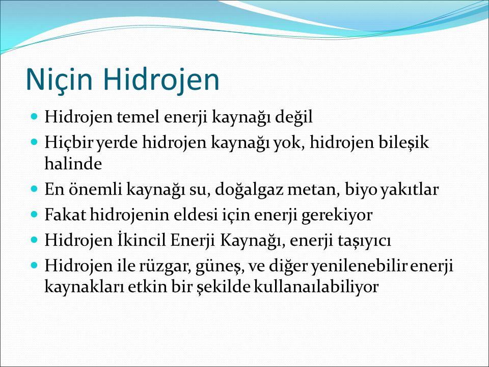 Niçin Hidrojen Hidrojen temel enerji kaynağı değil