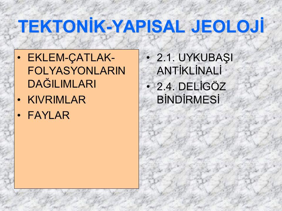 TEKTONİK-YAPISAL JEOLOJİ