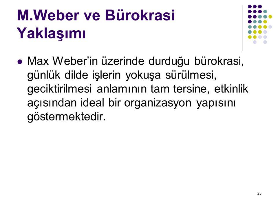 M.Weber ve Bürokrasi Yaklaşımı