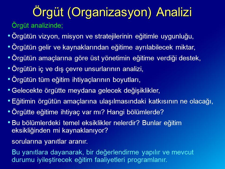 Örgüt (Organizasyon) Analizi