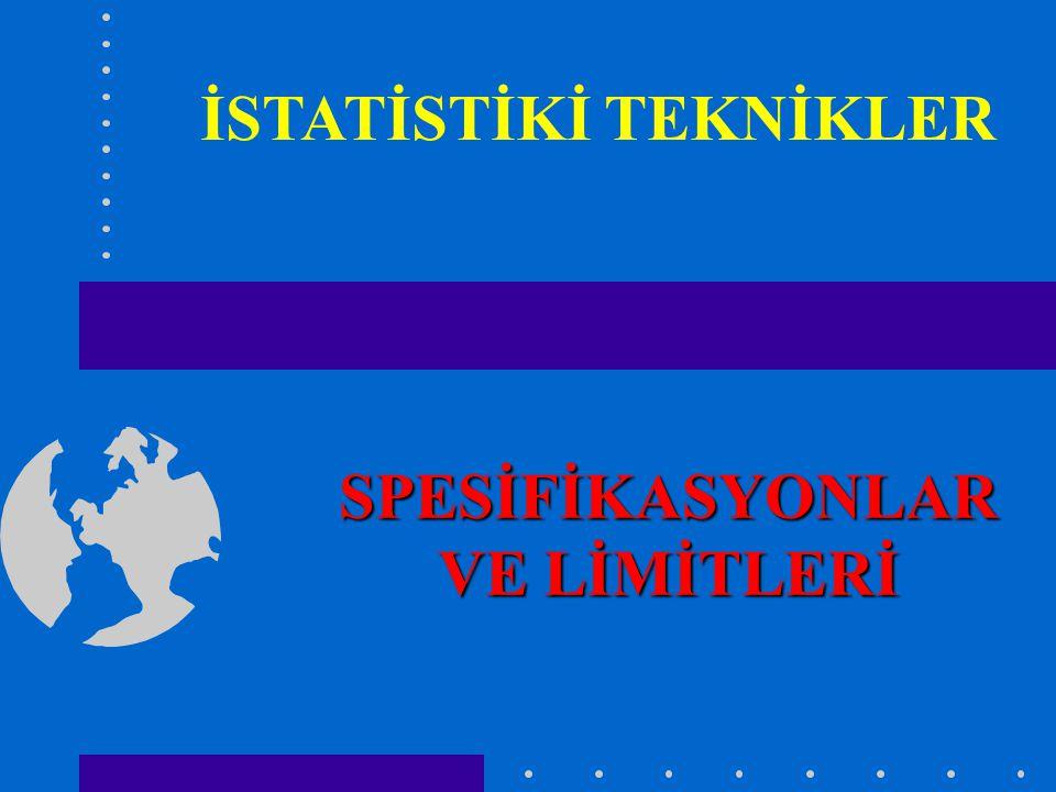 SPESİFİKASYONLAR VE LİMİTLERİ