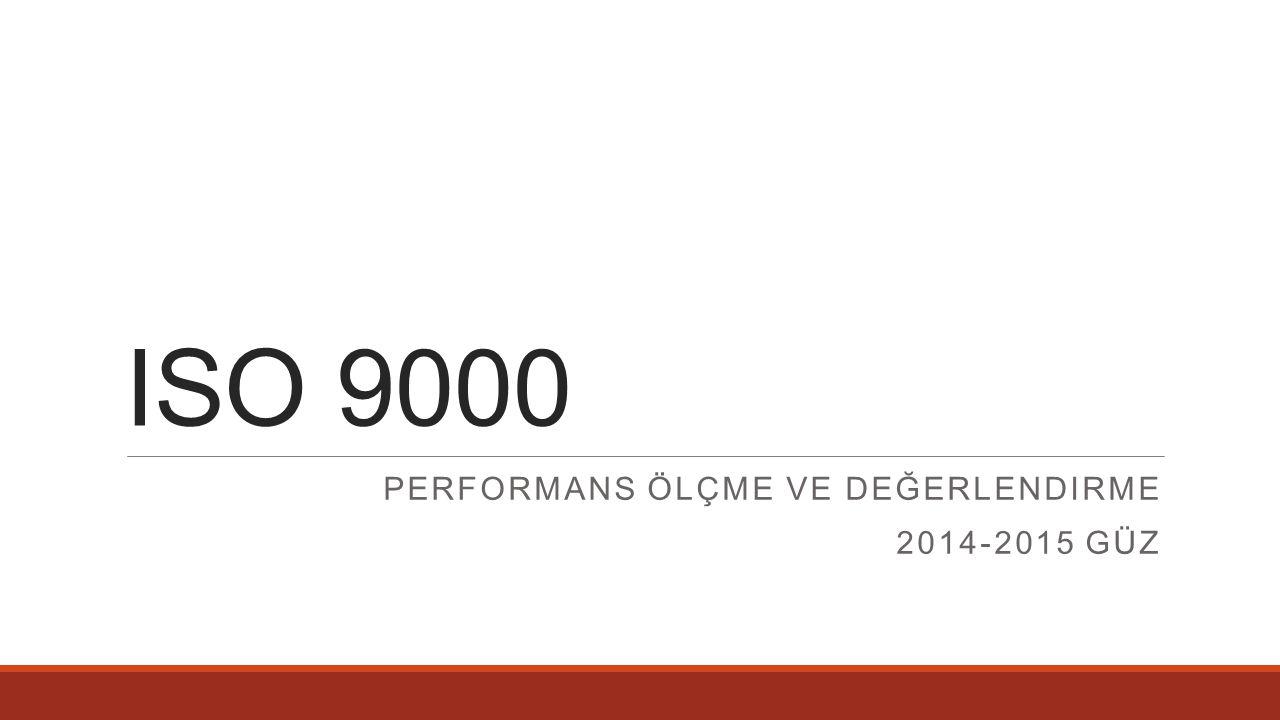 Performans ölçme ve değerlendirme 2014-2015 güz