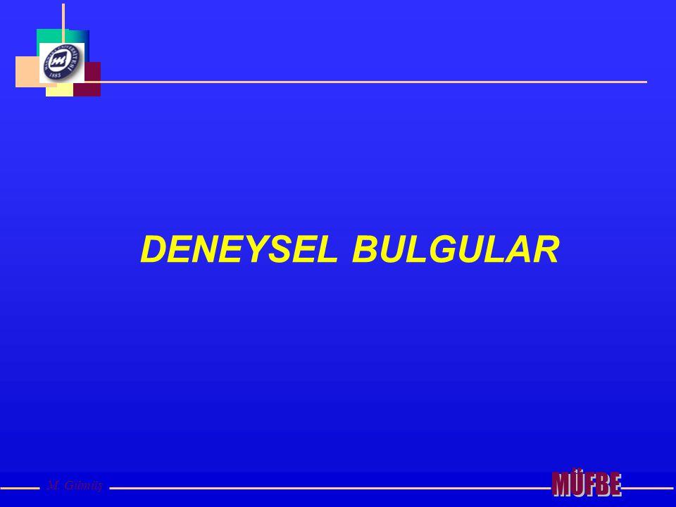 DENEYSEL BULGULAR MÜFBE M. Gümüş