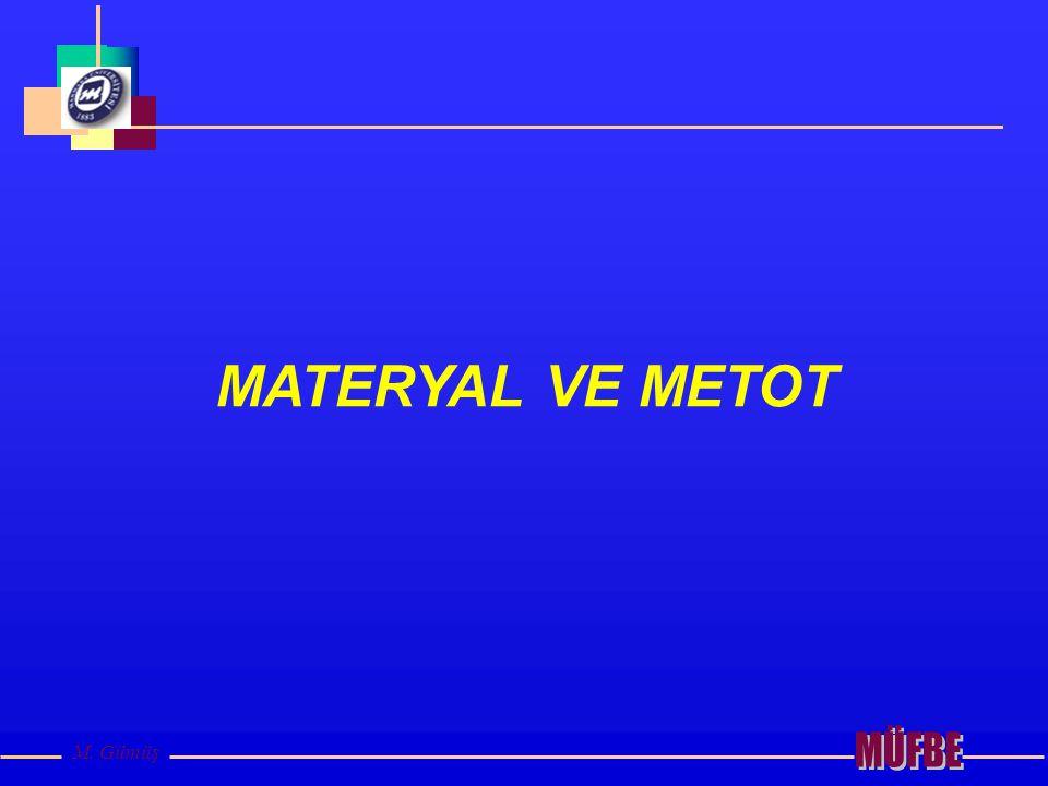 MATERYAL VE METOT MÜFBE M. Gümüş