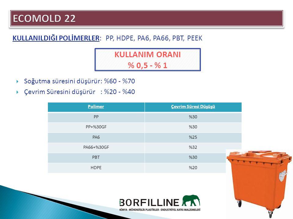 ECOMOLD 22 KULLANIM ORANI % 0,5 - % 1