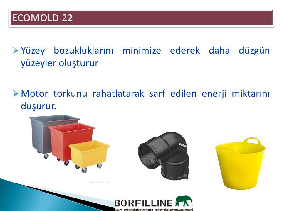 ECOMOLD 22 Yüzey bozukluklarını minimize ederek daha düzgün yüzeyler oluşturur.