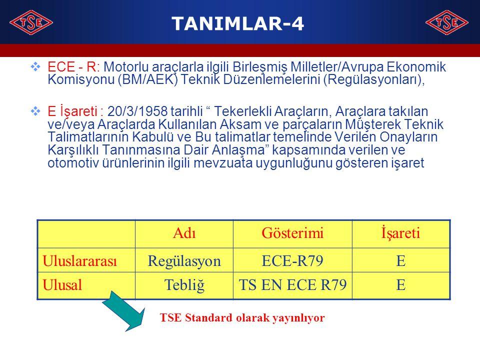 TSE Standard olarak yayınlıyor