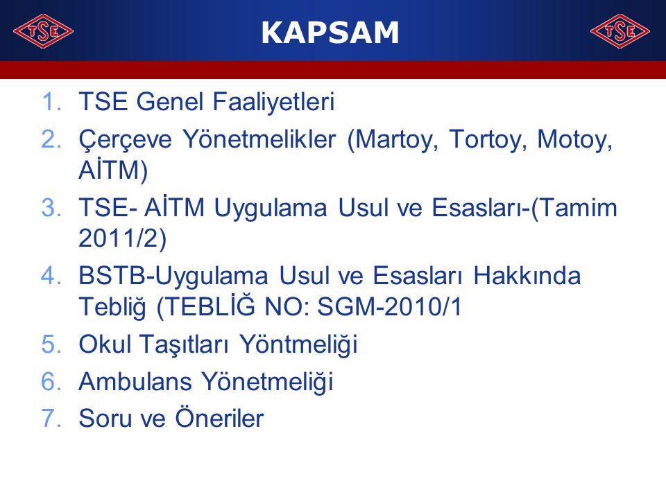 KAPSAM TSE Genel Faaliyetleri