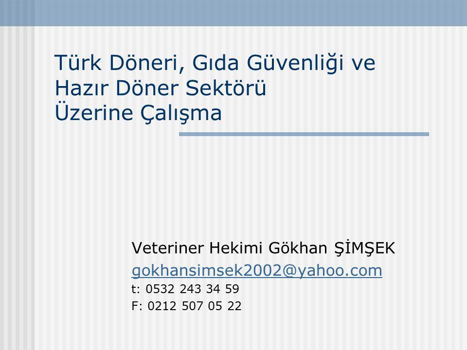 Türk Döneri, Gıda Güvenliği ve Hazır Döner Sektörü Üzerine Çalışma