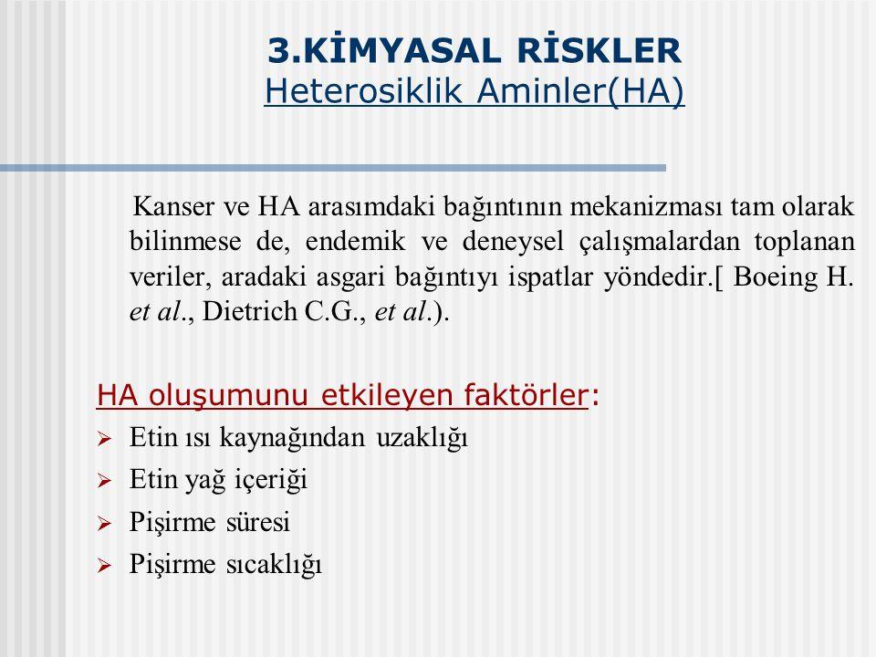 3.KİMYASAL RİSKLER Heterosiklik Aminler(HA)