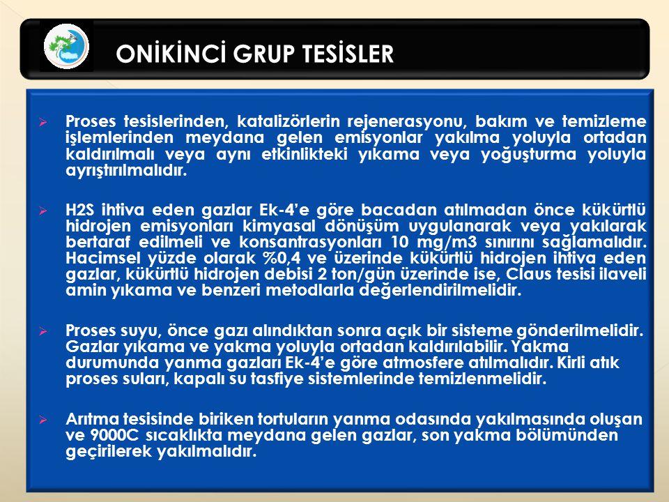 ONİKİNCİ GRUP TESİSLER