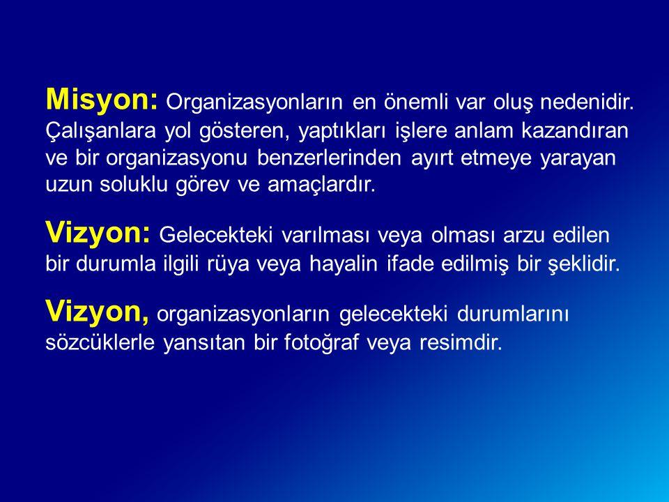 Misyon: Organizasyonların en önemli var oluş nedenidir