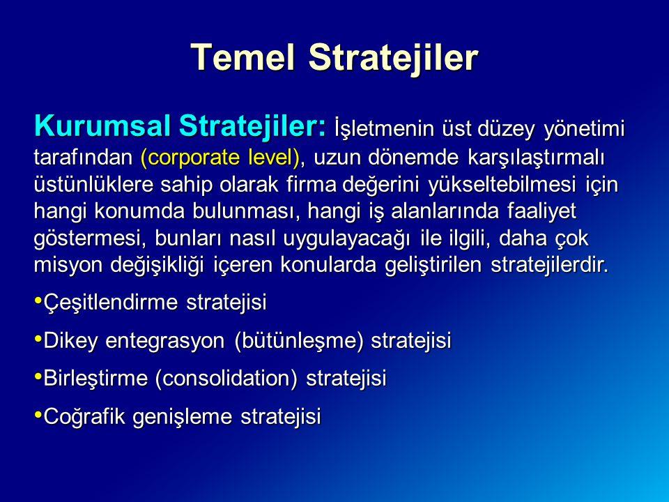 Temel Stratejiler