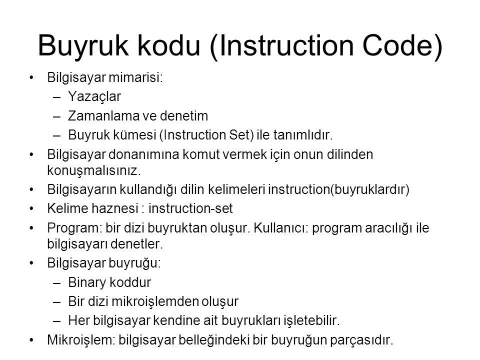 Buyruk kodu (Instruction Code)