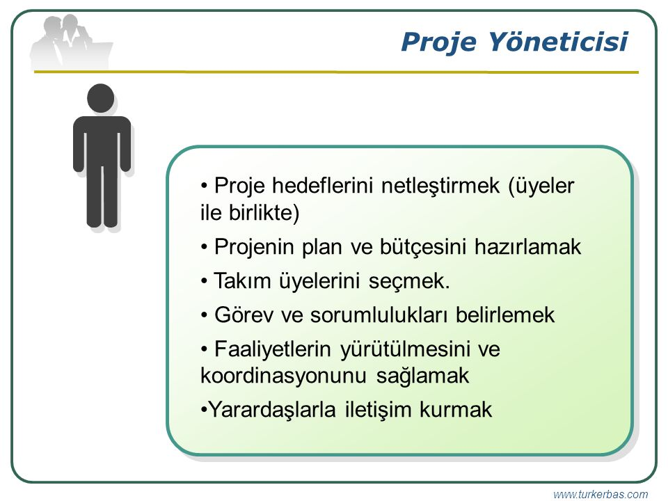 Proje Yöneticisi Proje hedeflerini netleştirmek (üyeler ile birlikte)