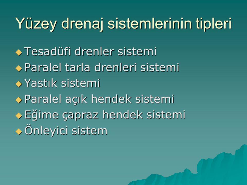 Yüzey drenaj sistemlerinin tipleri
