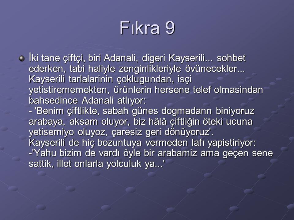 Fıkra 9