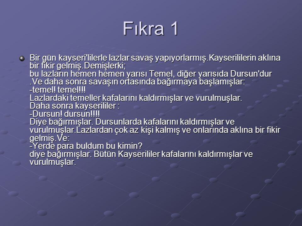 Fıkra 1