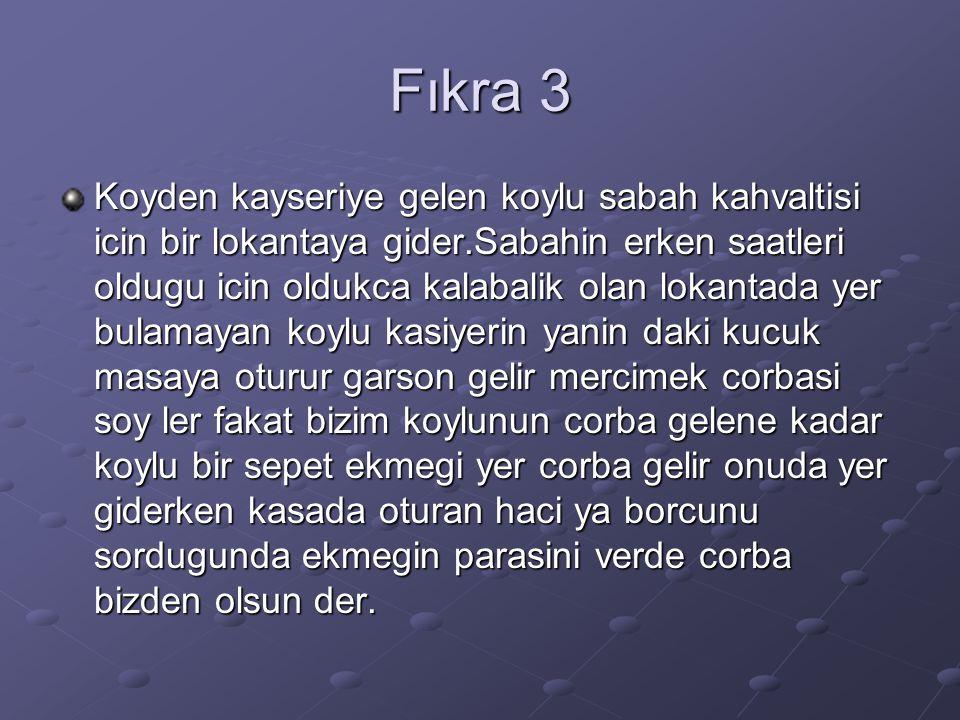 Fıkra 3