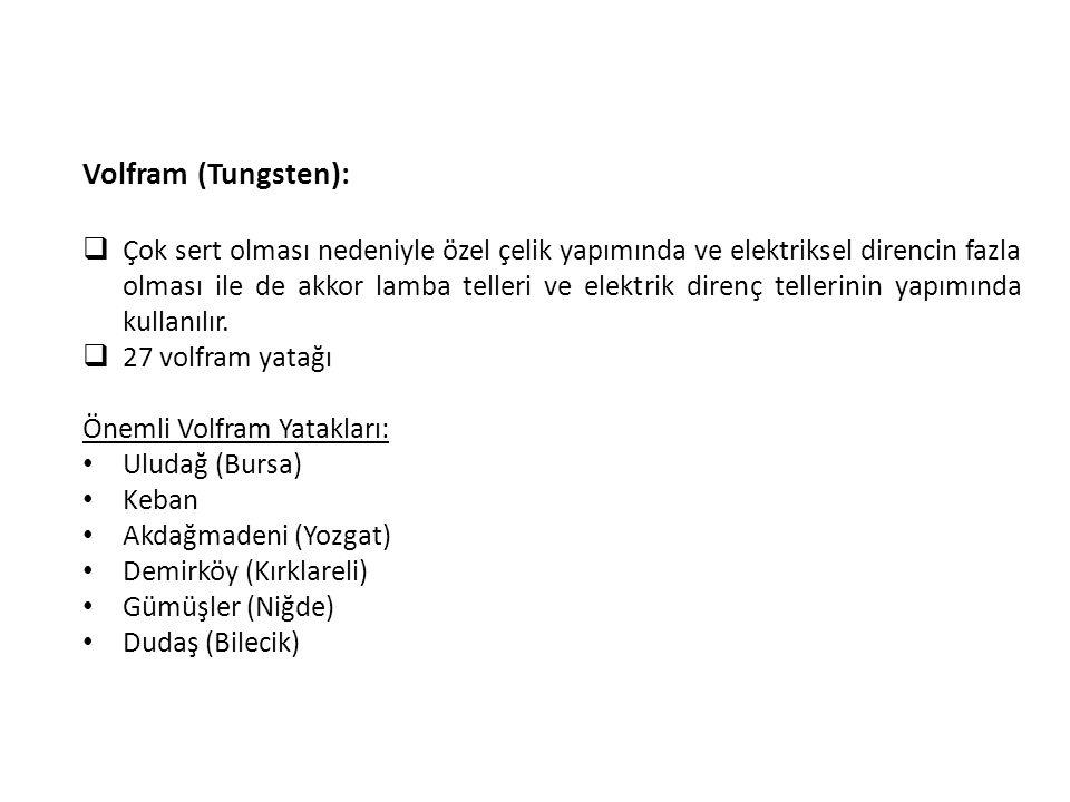 Volfram (Tungsten):