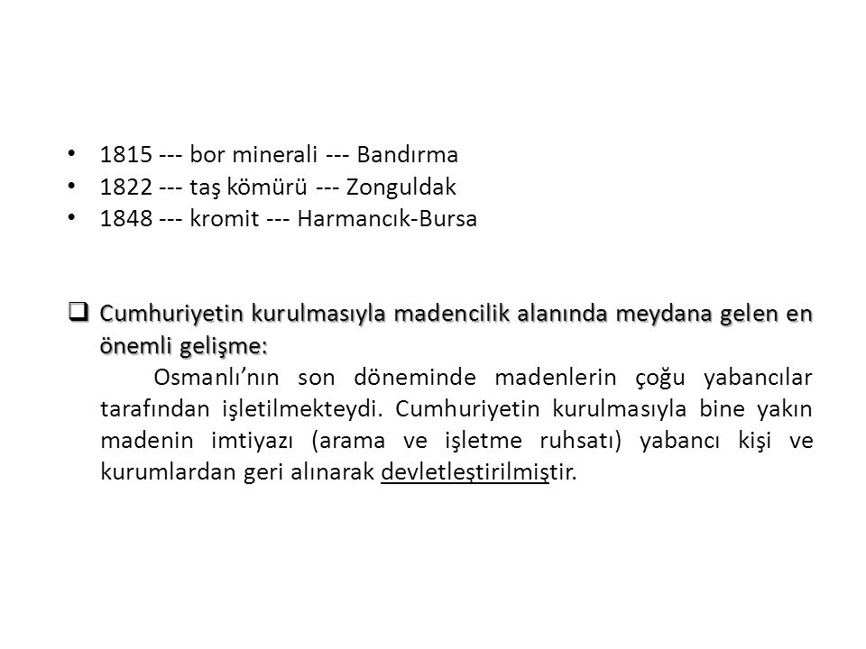 1815 --- bor minerali --- Bandırma