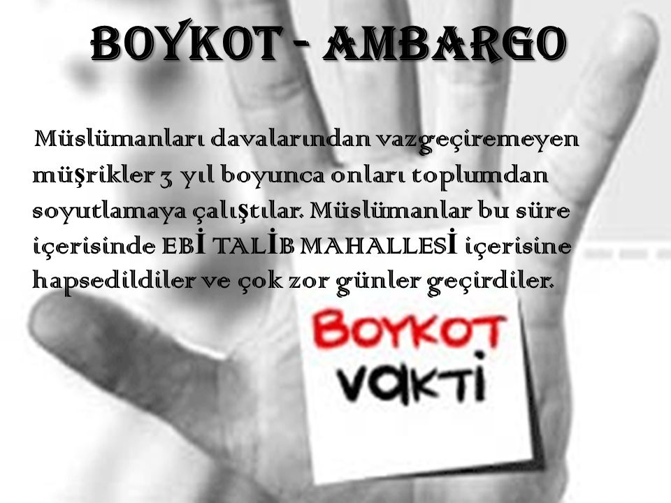 BOYKOT - AMBARGO
