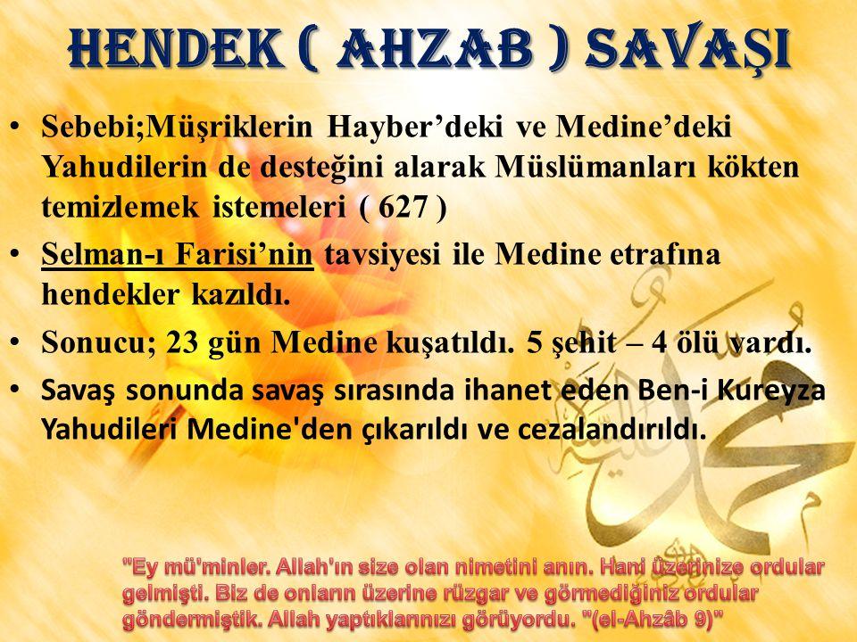 HENDEK ( AHZAB ) SAVAŞI