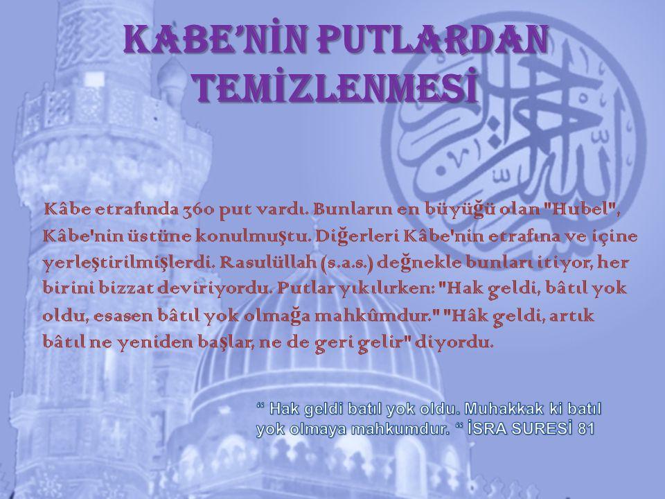 KABE'NİN PUTLARDAN TEMİZLENMESİ
